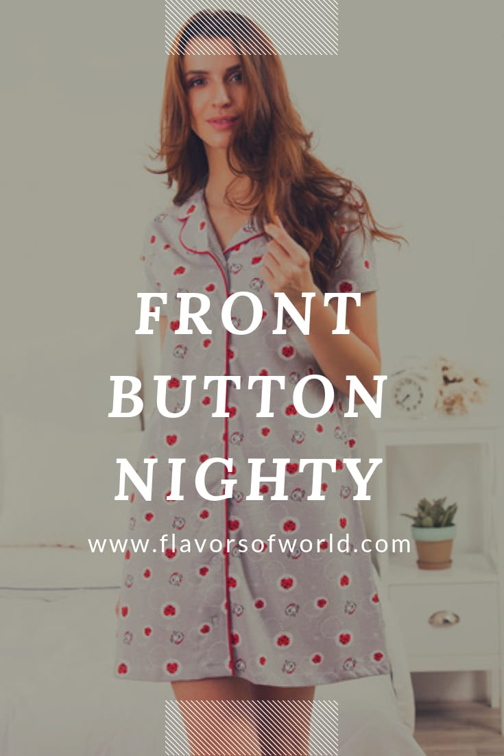 front button nighty by zivami