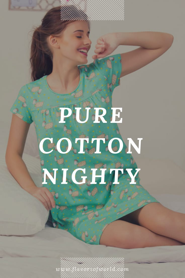 pure cotton nighty at zivami