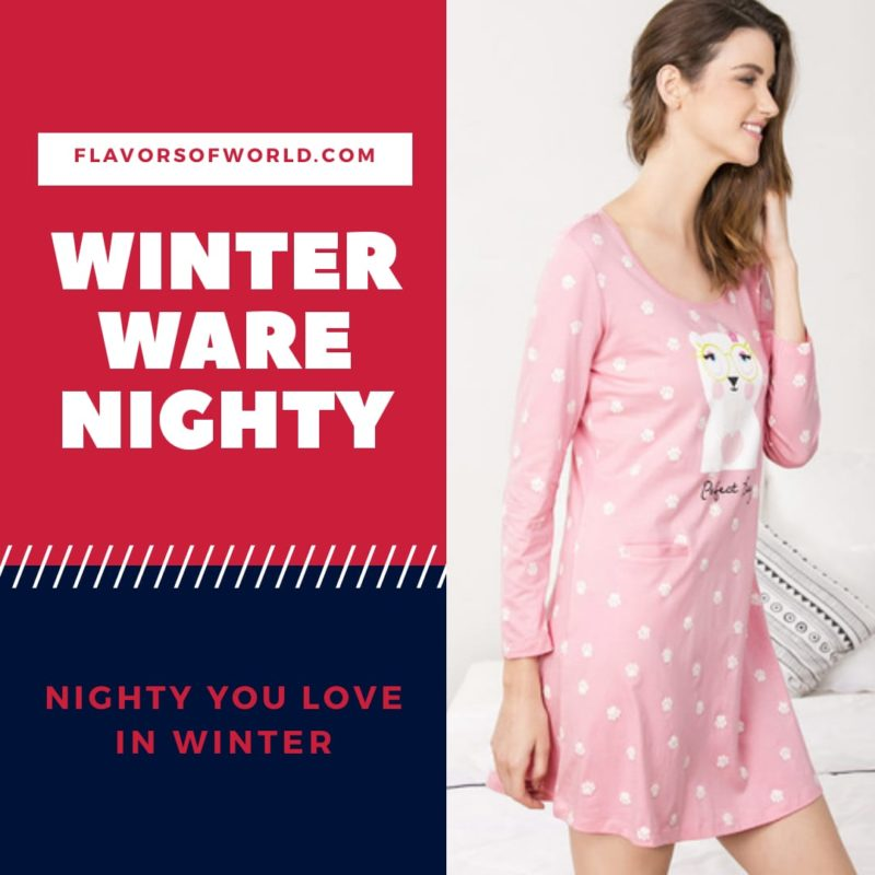 winter wear nighty at zivami